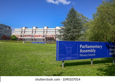 Parliamentary Assembly - Council of Europe in Strasbourg, France, 25 april 2018. Visiting the parliamentary Assembly in Strasbourg, France