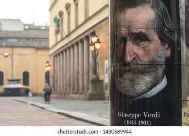 Parma, Emilia-Romagna/ Italy – 11.30.2016: the Regio Theater. Giuseppe Verdi Festival is held here every year. Commissioned by Maria Luigia, designed by Nicola Bettoli.