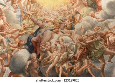 PARMA, ITALY- 07 NOV: painted by Antonio Allegri known as Correggio in to the chapel of the Cathedral of Parma november 07, 2008 in Parma.