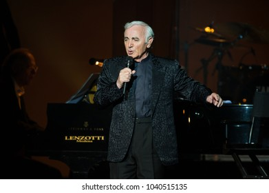 Parma, Italy 10/30/2009 : Charles Aznavour in concert at the Regio Theater of Parma