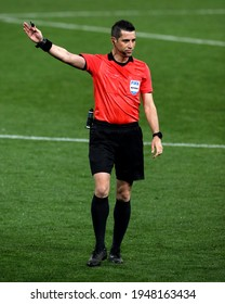 PARMA, ITALY - March 25, 2021:  Referee Ali Palabiyik in action  during the FIFA World Cup 2022 Qatar qualifying match between Italy and Northern Ireland at Stadio Ennio Tardini.