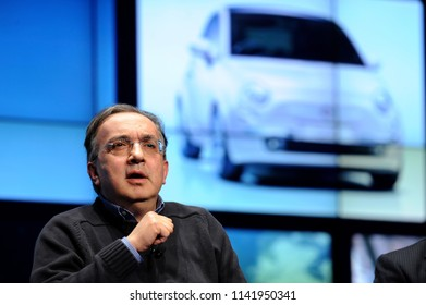 PARMA ITALY-APRIL 09, 2010: Fiat's Ceo, Sergio marchionne, attends a financial meeting, in Parma.