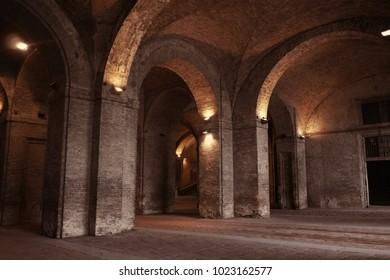 Parma, Palazzo Pilotta arches
