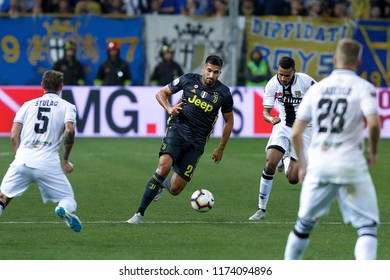 Parma,Italy, september 01 2018: Emre Can dribbles in the midfield in the second half during  football match PARMA vs JUVENTUS FC, Italy League Serie A 2018/2019 day3, Ennio Tardini stadium