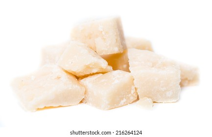 Parmesan Cheese isolated on pure white background