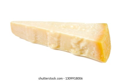 parmesan cheese isolated on white