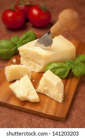 parmesan with a cheese knife