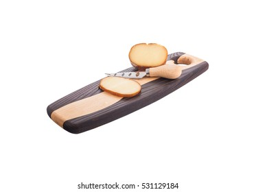 Parmesan cheese on serving board