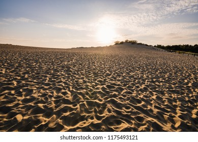 Parnidis dune in sunset. Curonian spit, Nida city, Lithuania.