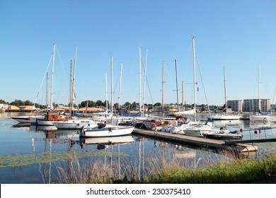 Parnu, Estonia - august 5: Parnu Yacht Club pier. August 5, 2011 in Parnu, Estonia.