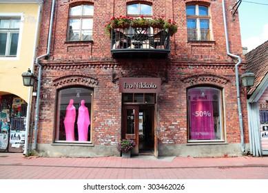 Parnu, Estonia- July 31, 2015- July- 31: Rutli Street Building 18 , July 31, 2015 in Parnu, Estonia.