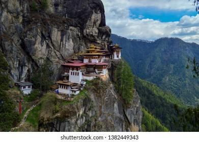 Paro Taktsang also known as Tiger's Nest in Bhutan