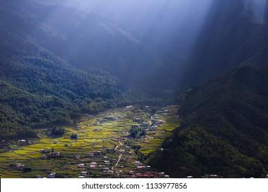 Paro valley , Bhutan