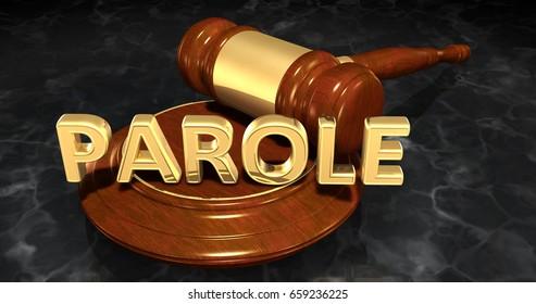 Parole Legal Concept 3D Illustration
