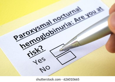Paroxysmal nocturnal hemoglobinuria: are you at risk? yes or no