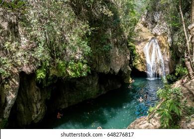 Parque el Cubano Waterfall near Trinidad, Cuba