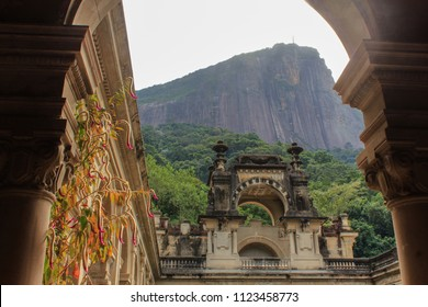 Parque Lage (Rio de Janeiro) is a historical landmark on the foot of Corcovado mountain and surrounded by the Tijuca forest