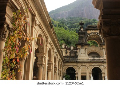 Parque Lage is surrounded by the Tijuca forest in Rio de Janeiro - Brazil. This is a historical landmark that became a public park and daily attracts a massive number of people.