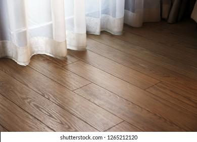 parquet floor in the interior of the room