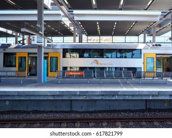 PARRAMATTA, AUSTRALIA - JANUARY 22, 2017: Sydney train platforms at Parramatta station