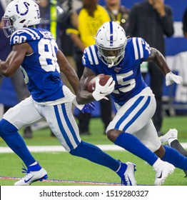 Parris Campbell #15 - Indianapolis Colts host Oakland Raiders on Sept. 29th 2019 at Lucas Oil Stadium in Indianapolis, IN. - USA