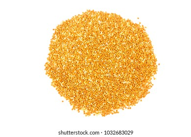 Parrot food isolated on a white background.
