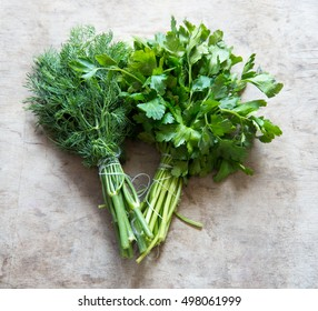 Parsley and fennel bunch