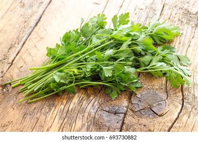 Parsley leaves biological