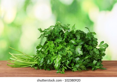 Parsley on green background