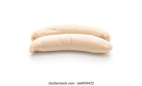 parsley sausage isolated on white background