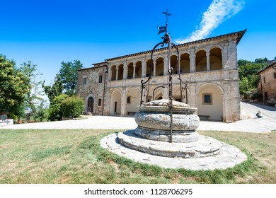 Parsonage of the church of San Biagio, located outside Montepulciano, Tuscany, central Italy. San Biagio is an example of Renaissance Greek cross central plan