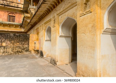 Part of the Amer Fort (Amber Fort and Amber Palace), a town near Jaipur, Rajasthan state, India. UNESCO World Heritage Site as part of the group Hill Forts of Rajasthan.