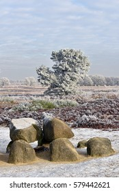 Part of an ancient megalithic tomb in Drenthe, the Netherlands