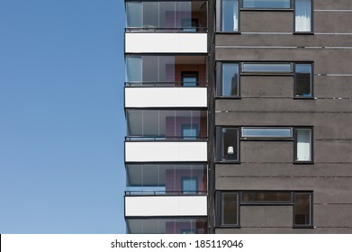 Part of Apartment building on a sunny day