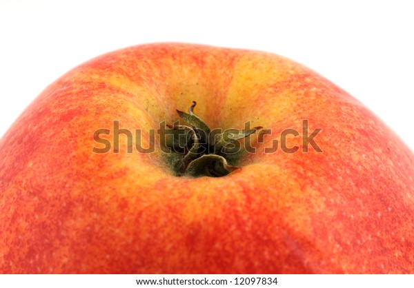 Part of an apple isolated on white