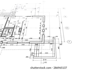part of architectural project, engineering and architecture drawings