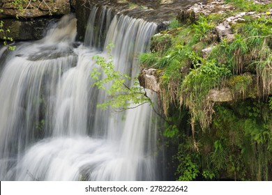 Part of Aysgarth Falls in the Yorkshire Dales