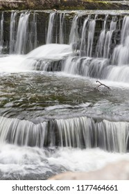 Part of Aysgarth Falls in The Yorksire Dales, England