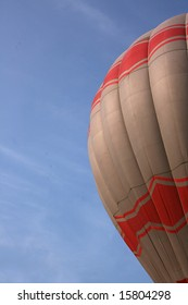part of the balloon over sky background