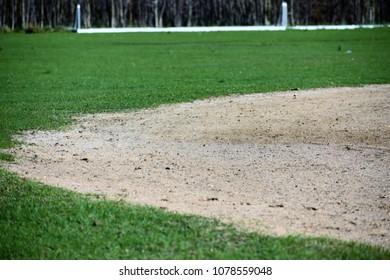 Part of baseball field.