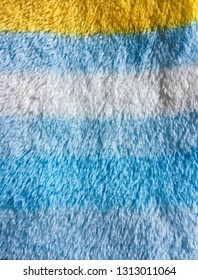 Part of a blue fleece fabric as a background