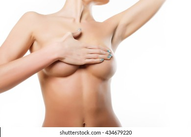 Part of the body female model with big breasts