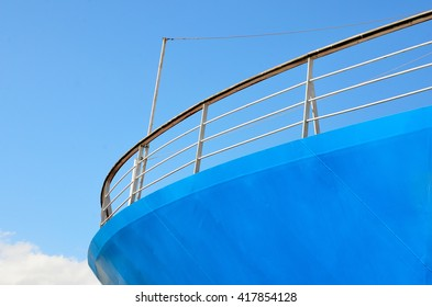 part of the bow of a ship