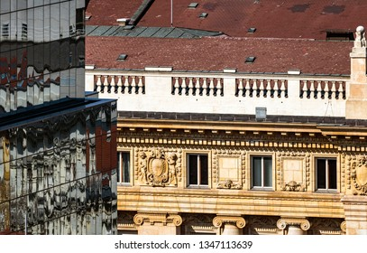 Part of building of National Bank of Hungary, Budapest