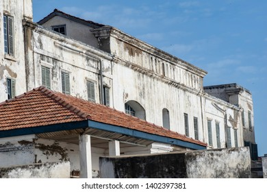 Part of Cape coast castle that has been used for slave trade.