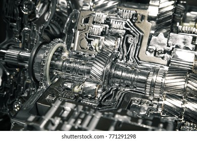 Part of the car's engine