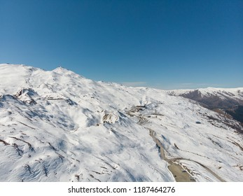 The part of Coronet peak ski field at Queens town, New Zealand.