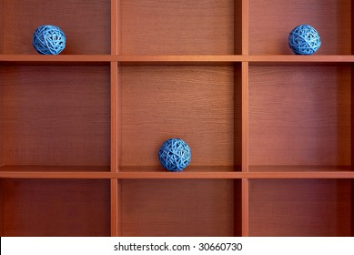 part of cupboard with nine shelves