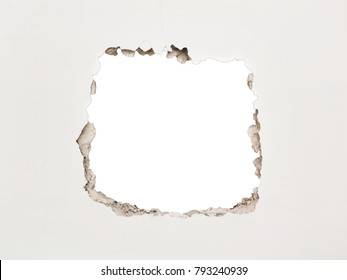 Part of the destroyed wall in the form of a square. With space for the image.