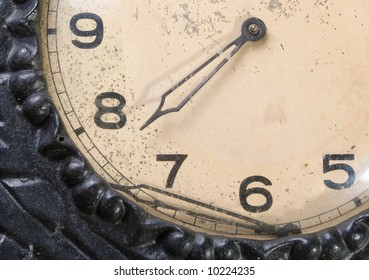 Part of dial old ???????? hours with tumbled by arrow